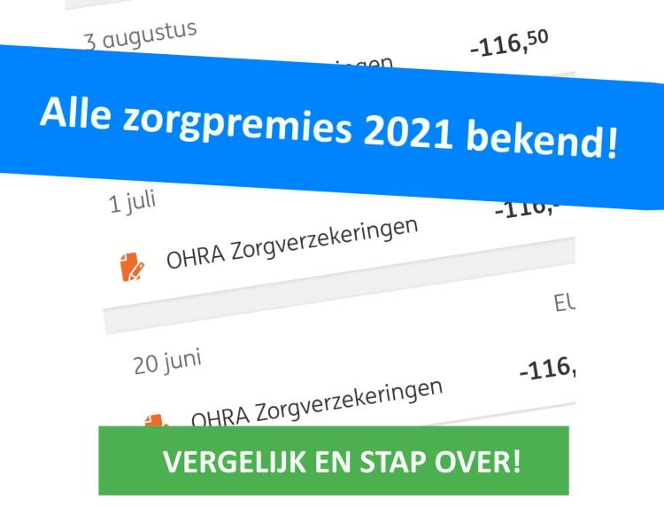 Zorgpremies 2021 bekend - Het vergelijken is begonnen!